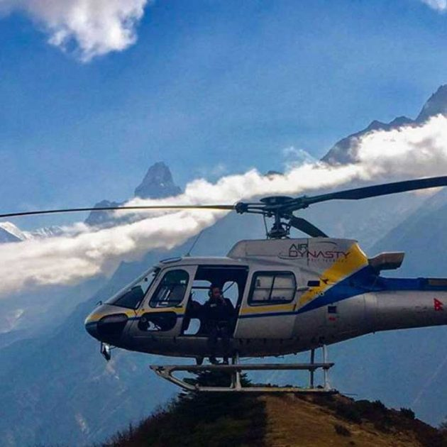Helicopter Charter From Lukla to Syangboche
