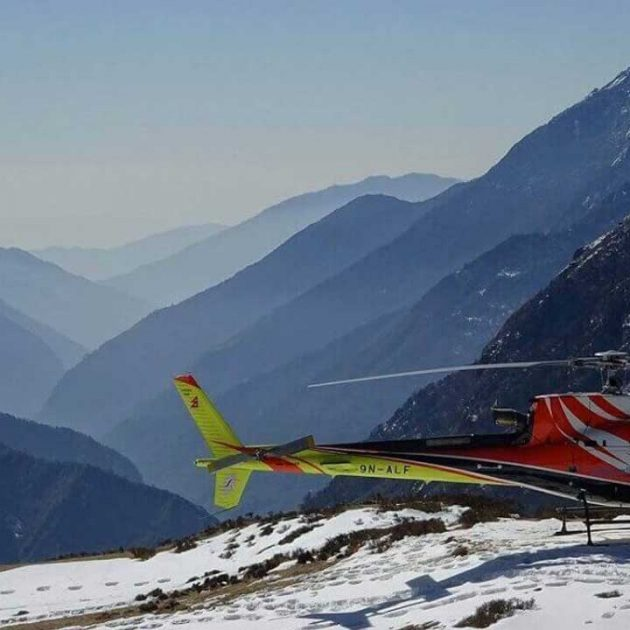 Helicopter Charter To Everest View Hotel