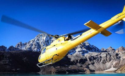 Helicopter Rescue from Gokyo
