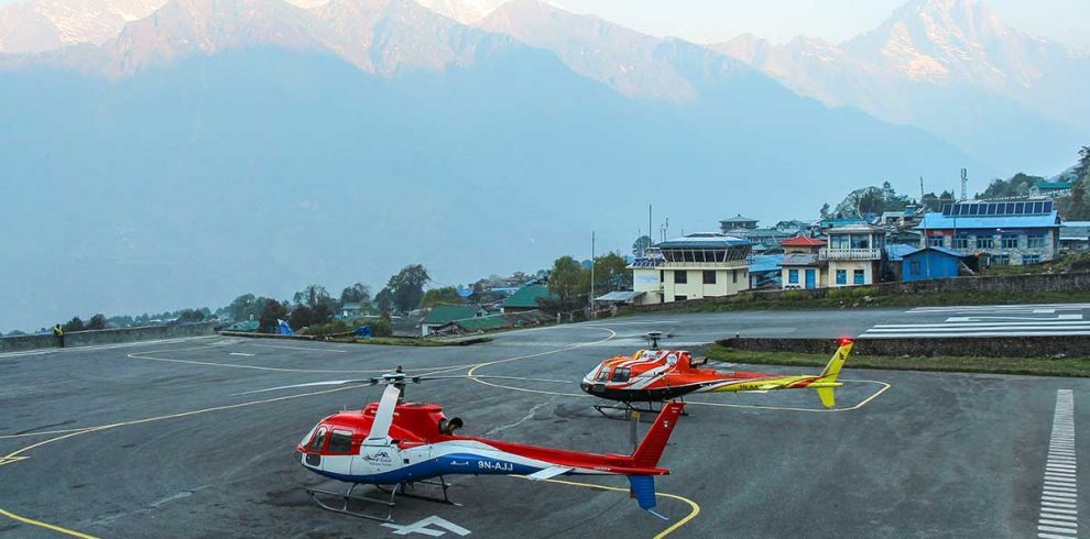 Helicopter Rescue from Lukla