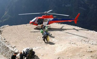 Helicopter Rescue from Namche