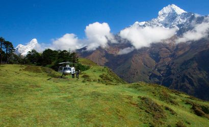 Helicopter Rescue from Pangboche