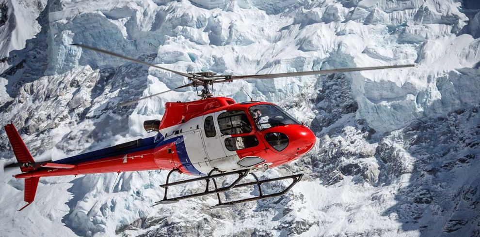 Helicopter rescue from Mera peak